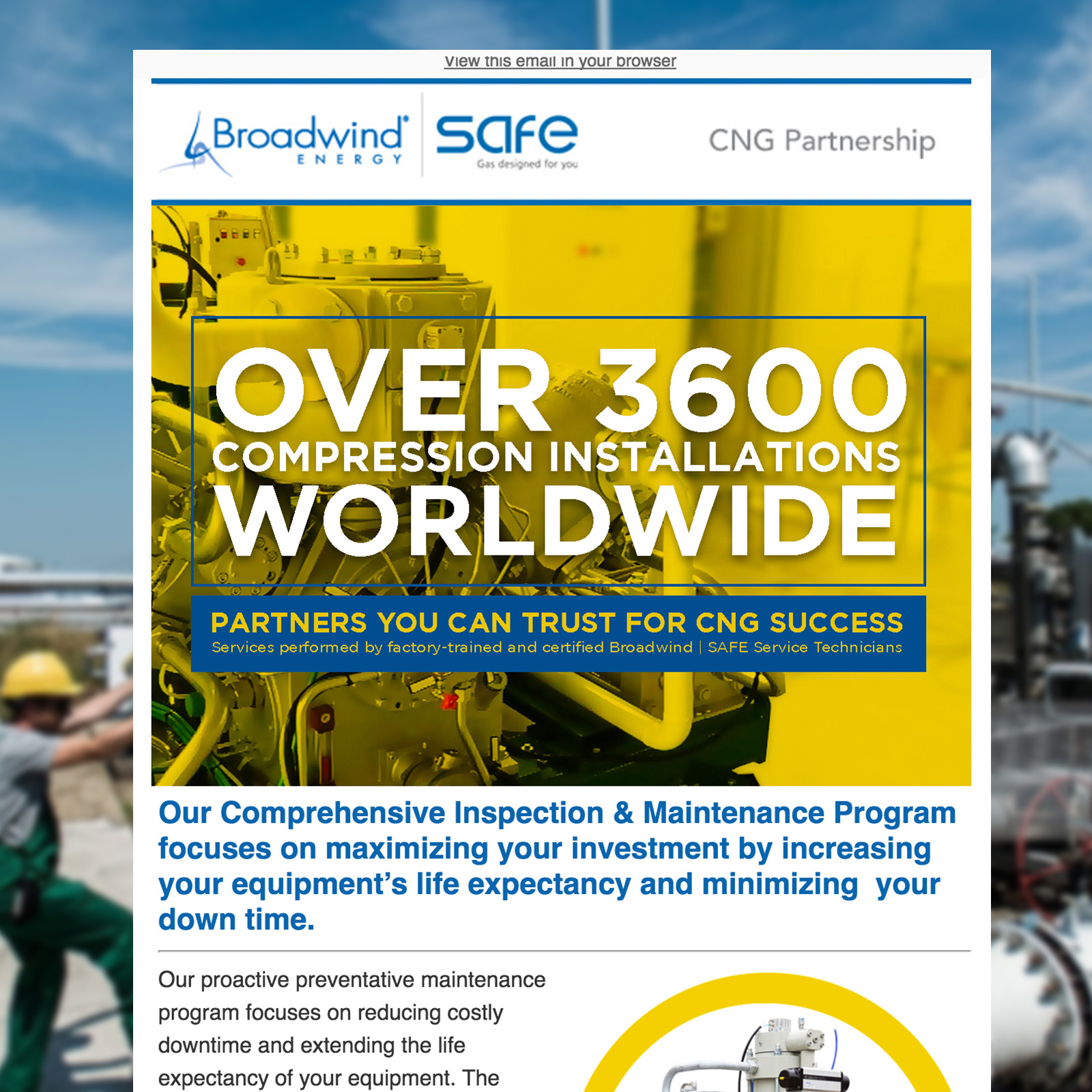 Broadwind Energy Email Campaign